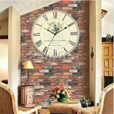 Vintage Rustic Retro Antique Shabby Chic Wall Clock Home Kitchen Decor Gifts