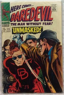 Daredevil #29 (1967 Marvel) Silver Age Rare Early VG condition for age.