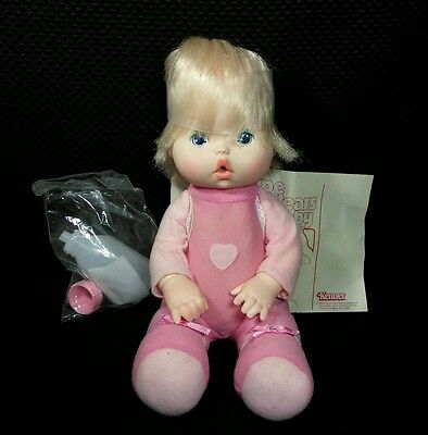 """13"""" Vintage 1980 Kenner Wipe Your Tears Baby Doll Complete"""