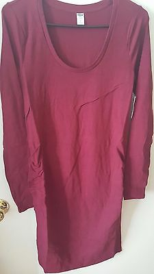 Brand New With Tags Old Navy Burgundy Maternity Bodycon Dress Size Medium