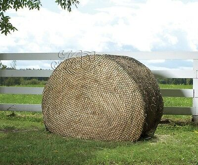 New Hay Chix Slow Feed Round Bale Hay Cinch Net Feeders 4' or 6' Size. Horse