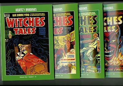 WITCHES TALES; Harvey Horrors Collected Works V1-V4 SET; (PSA Artbooks) NEW