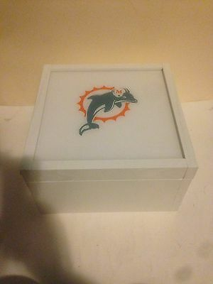 Miami Dolphins custom card storage case For Magnetic Holders And Top Loaders