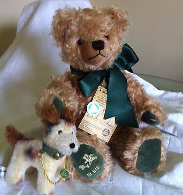 A SUPER VINTAGE, L E HERMANN, LUXURY MOHAIR COLLECTORS TEDDY BEAR 'Max & Foxi'