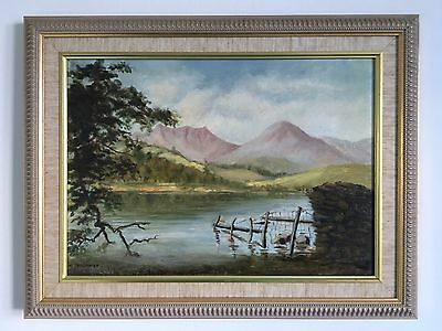 A Wonderful Oil On Board Painting of Coniston Lake