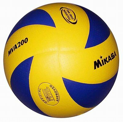 Mikasa FIVB MVA200 Olympic Volleyball Official Game Ball Blue/Yellow