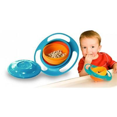 Non Spill Bowl 360 Rotating Gyro Feeding Bowl For Baby Toddler + FREE Baby Gift