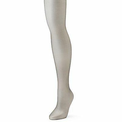 Capezio 1801 Women's Size Large Silver Super Shimmery Footed Tights