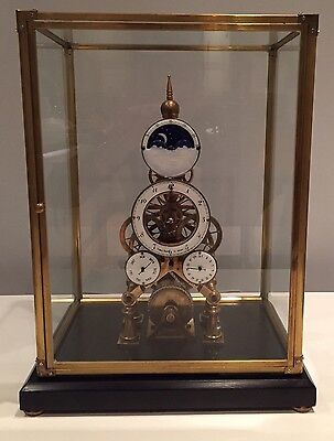 Beautiful Day & Date Moonphase Skeleton  Clock, Open To Offers