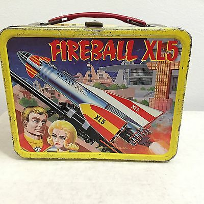 1964 Fireball XL5 Metal LUNCH BOX Space Captain Steve Zodiac toy rocket robot