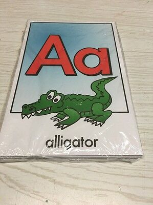 26 cards - Full color Alphabet cards- Pre school Kindergarten Letters -Laminated