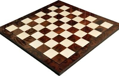 """USCF Sales Walnut Burl & Maple Superior Traditional Chess Board - 2.5"""" Squares -"""