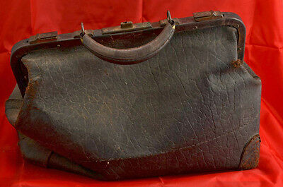 Antique Man's Victorian Satchel, Overnight Bag 1800's