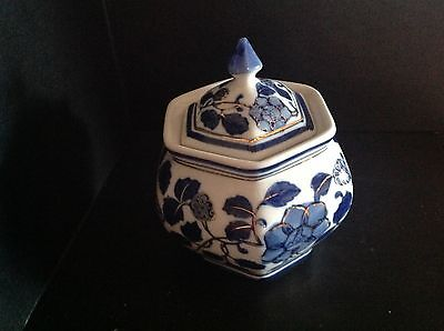 Little Blue And White Ginger Jar, Nice