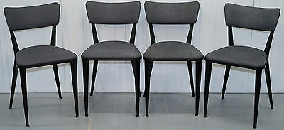 Set Of Four 1945 Ernest Race Ba3 Dining Chairs Made In England Velvet Upholstery
