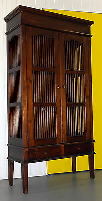 The Pier Solid Wood Bookcase Display Cabinet Lovely Panelling All Round