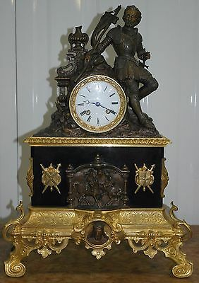 Stunning 18Th - 19Th Century Grand Charles 10Th X French Bronze Mantle Clock