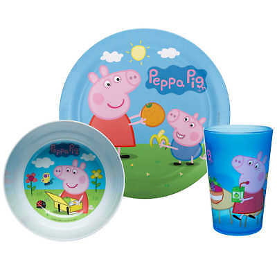 Peppa Pig- Pc. Plate, Bowl & Cup Set