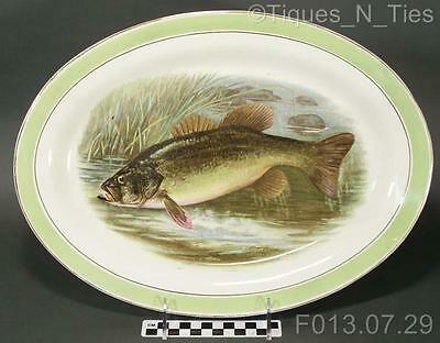 Antique Buffalo Pottery China Game Fish Platter R.K. Beck Artist Signed (FF)