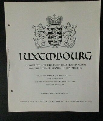 Postage on Album Pages from Luxembourg, 50  Pages,  Includes 4 stamps .