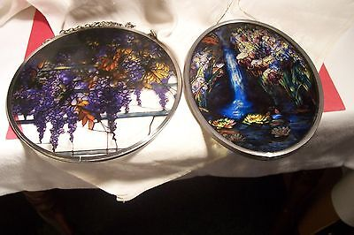 2 Tiffany Style Stained Glass Mini Panels, L-B445
