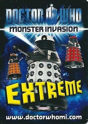 Dr Who Monster Invasion extreme cards NEW Pick 3 from list TV Trading cards
