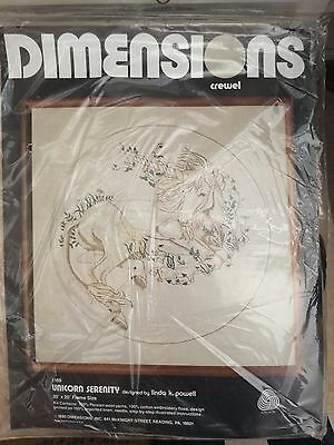 Dimensions Crewel Kit Unicorn Serenity Number 1169 20 X 20 Powell New Old stock