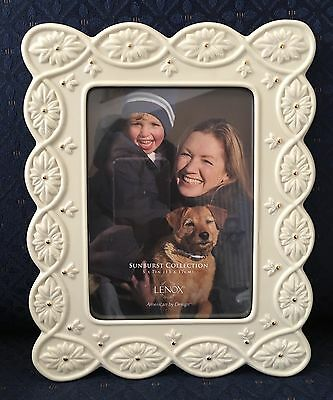 "Lenox SUNBURST Ivory China Photo Picture Frame 5""×7"" New In Box PERFECT"