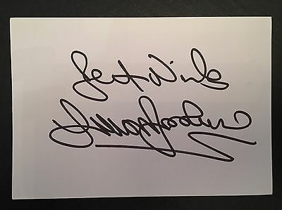 Trevor Brooking West Ham & England Hand Signed 6x4 White Card.