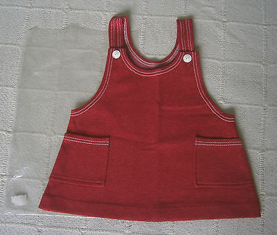 Vintage Stretch Tunic - Age 3 -98 cm  Red Marl - Danish - Cotton/Nylon - New