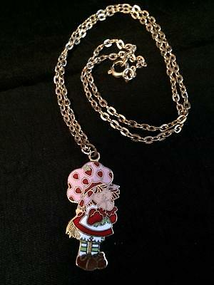 Original Vintage Strawberry Shortcake Pendant Necklace
