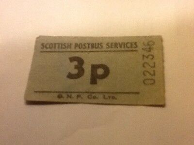 Scottish Post Bus Services 3p Ticket  Post Office Royal Mail Collectables