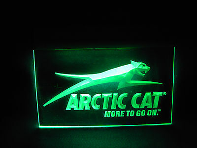 Nice Working Vintage Arctic Cat Snowmobile Lighted Store Display Sign