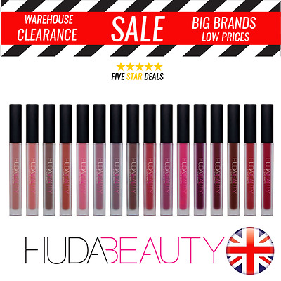 Huda Beauty Lip Liquid Matte Colour Lipstick 15 Shades - BRAND NEW - UK Seller