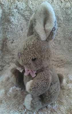 "12"" Vintage Russ Berrie Brown Brambles Bunny Rabbit Stuffed Animal Plush Toy"