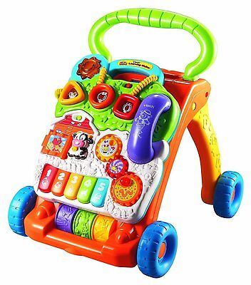 Toddler Learning Walker Sit-to-Stand VTech Educational Interactive Push Toy