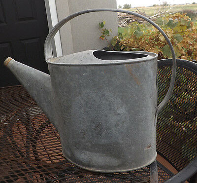 Vintage 2 Gallon Galvanised Metal Watering Oval Shaped