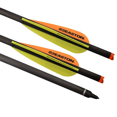 6X 20 inch Crossbow Bolts Carbon Arrows Easton Vane for Archery Hunting Shooting