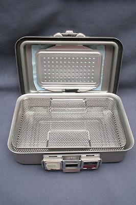 Genesis V. Mueller Baxter 12x8x3 Surgical/Tatoo Sterilization Container w/Tray