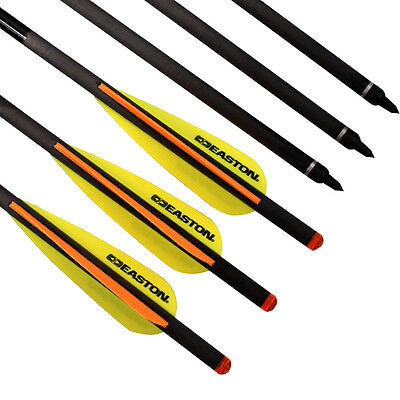 12X 20 inch Crossbow Bolts Carbon Arrows Easton Vane Archery Hunting Shooting