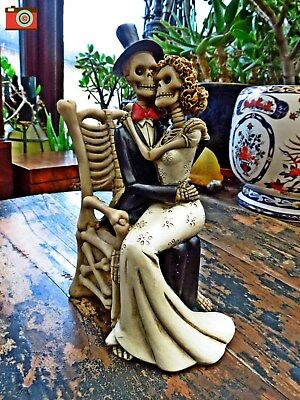 For Better For Worse, Skeleton, Day Of The Dead Figure. Great Wedding Gift #122