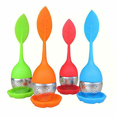 Be Cute Silicone Stainless Steel Leaf Tea Strainer Teaspoon Infuser Spice Filter
