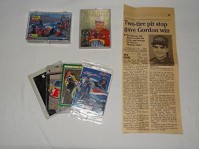 Lot 23 Jeff Gordon Cards 1993-1999 Pinnacle Upper Deck Action Packed Maxx Rookie
