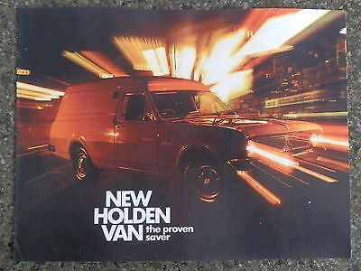 1970 Holden Hg Panelvan Sales Brochure  100% Guarantee