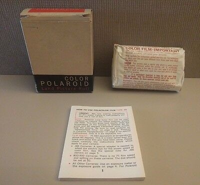 Vintage Polaroid Color Land Picture Roll Film Type 48 Sealed