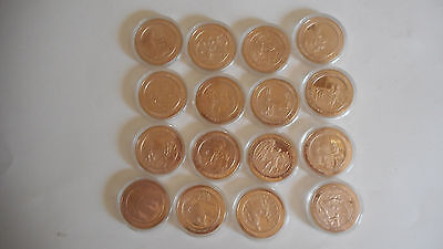 59 Assorted Franklin Mint Solid Bronze Historical   Medal for years 1700's-1900