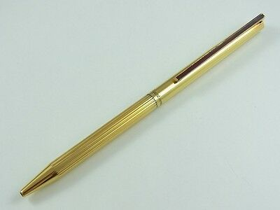 S.T. Dupont Classic Vermeil Red Clip Ballpoint Pen (damaged)(HARD TO TWIST)