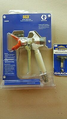 Graco SG3 airless spray gun with 515 and 519 tips. BRAND NEW.