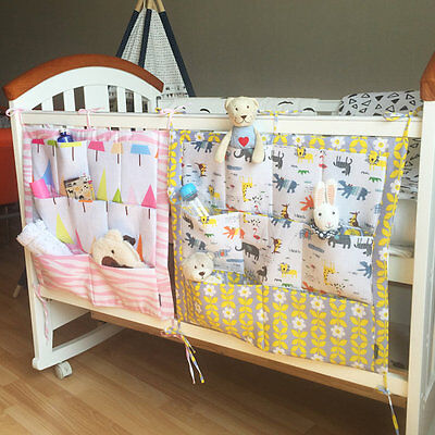 Pure Cotton Cot Bed Hanging Dirty Clothes Storage Bag Organizer 60 * 50cm KG