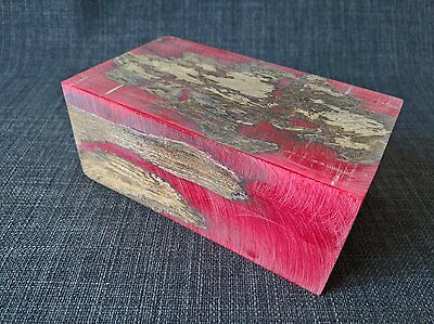 1 block red resin driftwood stabilized turning scales knife blank
